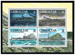 Gibraltar 714 MNH 1996 WWII Warships S/S