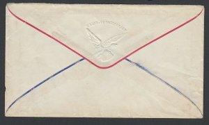 Civil War Patriotic unused cover - Union & Constitution with Eagle