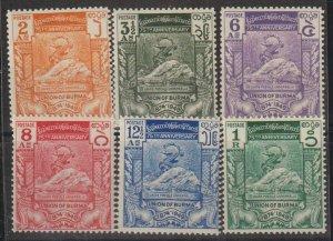 Burma SC 116-21 Mint Never Hinged