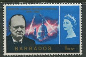 Barbados - Scott 281 - Churchill Memorial - 1966 - Mint - Single 1c Stamps