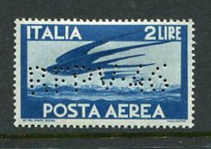 Italy #C107 1945 Republica Perfin RFDV46