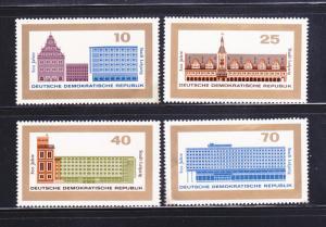 Germany DDR 781-784 Set MNH Buildings
