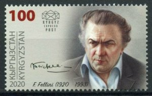 Kyrgyzstan Film Stamps 2020 MNH Federico Fellini Directors Cinema People 1v Set