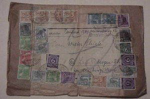 GERMAN COVER  10 or MORE STAMPS ON 27-6-48 MEUSELINTZO 4.2M