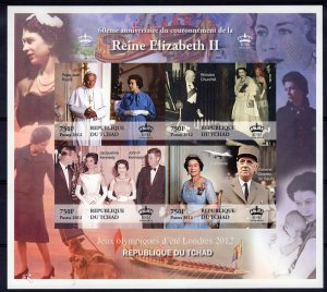 60th.Anniv.Queen Elizabeth II/Prince Philip /Churchill/Kennedy DELUXE S/S MNH