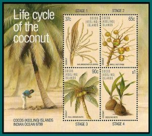Cocos 1988 Coconut Life Cycle, MS MNH #176a,SGMS184