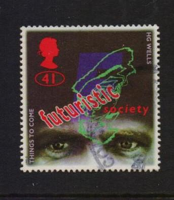 Great Britain 1995 used Science Fiction  41p.#
