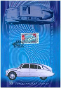 SLOVAKIA / 2011, (Colle. Sheet) Veteran Motor Cars – Aerodynamic Tatra 87, MNH