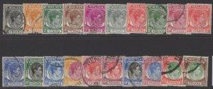MALAYA PENANG SG3/22 1949-52 KGVI DEFINBITIVE SET USED
