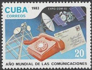 Cuba 2565 MNH World Communications Year 1983