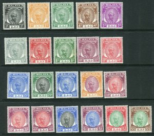 PAHANG-1950-56 A mounted mint set to $5 Sg 53-73