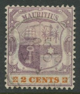 STAMP STATION PERTH Mauritius #93 Coat of Arms Used Wmk 2 - 1895 -1904
