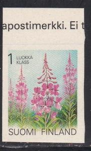 Finland # 838, Flowers, Self Adhesive, NH, 1/2 Cat.