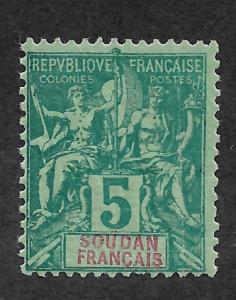 French Sudan 1892 Navigation & Commerce 5c Sc # 6,VF MVLH (MB-9)