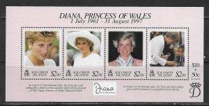 Solomon Islands ~ Scott # 867 ~ MNH ~ Diana, Princess of Wales