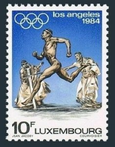 Luxembourg 707 block/4,MNH.Michel 1104. Olympics Los Angeles-1984.Runner.