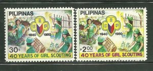 Philippines MNH 1465-6 Philippines Girl Scout 40th Anniversary