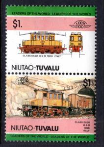 Tuvalu Niutao 19 Trains MNH VF