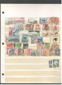 JAPAN COLLECTION ON STOCK SHEET, MINT/USED