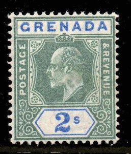 Grenada 1904 EDVII 2/- ordinary paper wmk MCCA SG 74 mint