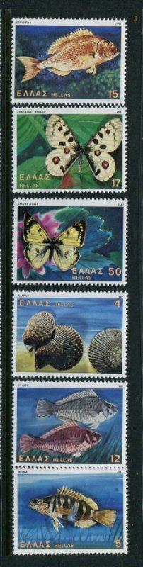 Greece MNH 1397-402 Fish & Butterflies Must See!!!!