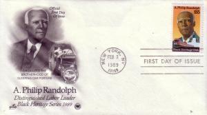 US FDC Sc.# 2402 A. Philip Randolph Artcraft L480