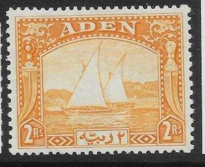 ADEN SG10 1937 2r YELLOW MTD MINT