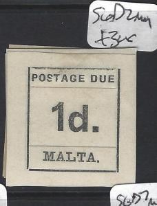 MALTA (P0606B) POSTAGE DUE  1 D     SG D 2     MOG