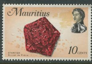 Mauritius -Scott 343 - Fish Definitive Issue -1969 - MLH - Single 10c Stamp