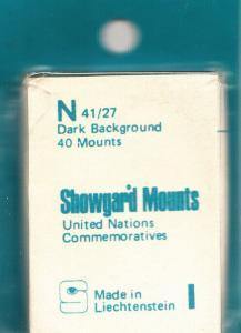 SHOWGARD BLACK MOUNTS N 40/27 (40) RETAIL PRICE $3.95