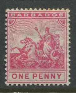 Barbados - Scott 72 - Badge of Colony Issue -1892 - MH - 1d Stamp