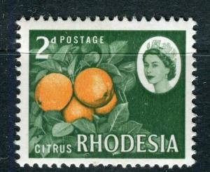 RHODESIA; 1964-66 early QEII issue Mint hinged 2d. value