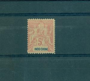 French Indo-china - Sc# 21. 1896 fr. Commerce Issue. MLH. $145.00
