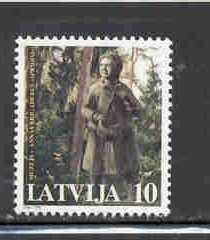 Latvia Sc 462 1998 Statue of Brigadere stamp mint NH