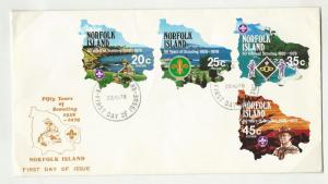 Norfolk Island    FIRSR DAY COVER  sc  231 - 234