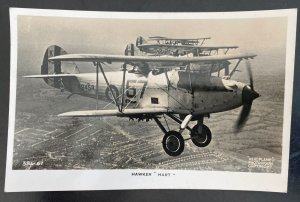 1941 England Real Picture Postcard Cover Hawker hart In Flight