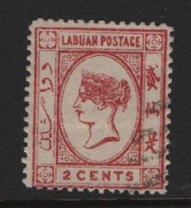 LABUAN, 33 USED, 1892, QUEEN VICTORIA