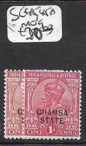 INDIA CHAMBA  (P2409B) KGVI  1A  SG 45, 45A  MOG