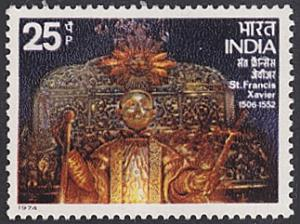 India # 647 mnh ~ 25p St. Francis Xavier's Tomb