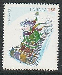 2008 Canada - Sc 2295i - MNH VF - 1 single - Christmas - Tobogganing