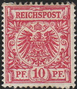 Stamp Germany Reich Mi 047 Sc 048 1889 Germania Empire Post Office Eagle MH