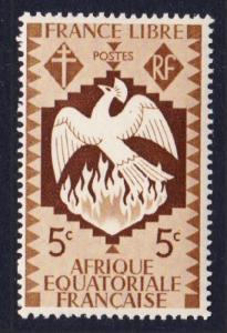 Fr. Eq. Africa Birds Fenix 1v 5c MH SG#164 SC#142
