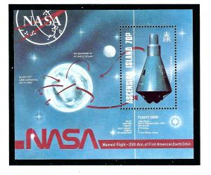 Ascension 424 MNH 1987 Space Flight Anniversary S/S