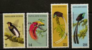 PAPUA NEW GUINEA SG237/40 1973 BIRDS OF PARADISE MNH
