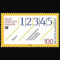 GERMANY 1993 - Scott# 1777 New Postal Codes Set of 1 NH