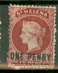 St Helena 12 unused no gum CV $140