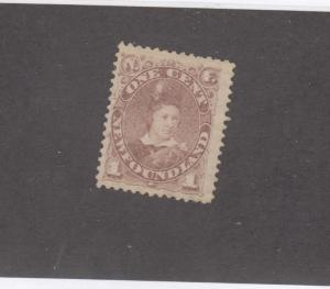 NEWFOUNDLAND # 42 VF-MNG 1cts  EDWARD, PRINCE OF WALES/GREY BROWN CAT VALUE $90
