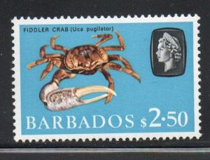 Barbados Sc 280 1965 $2.50 Crab stamp mint NH