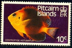 Fish, Blackear Angelfish, Pitcairn Islands stamp SC#235 MNH