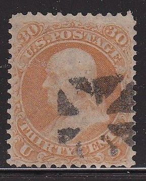 71 VF fancy cancel nice color cv $ 200 ! see pic !